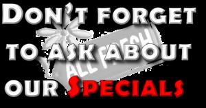 All Fresh Specials