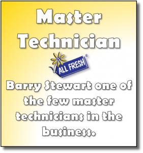 Master Technician - Barry Stewart is one of the few master technicians in the business.