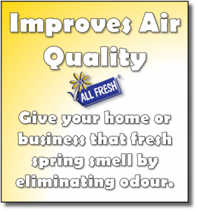 Improves Air Quality - Give your hom eor business that fresh spring smell by eliminating odour.